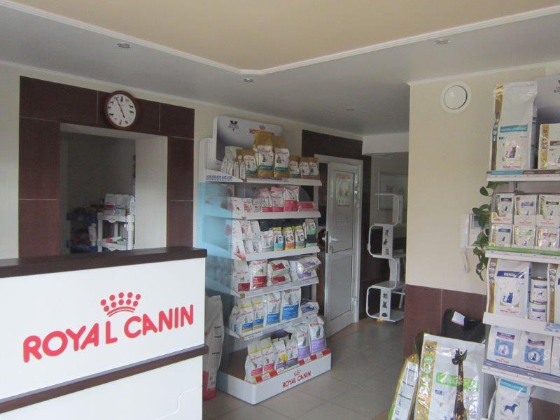 В клинике можно купить корм для своих питомцев