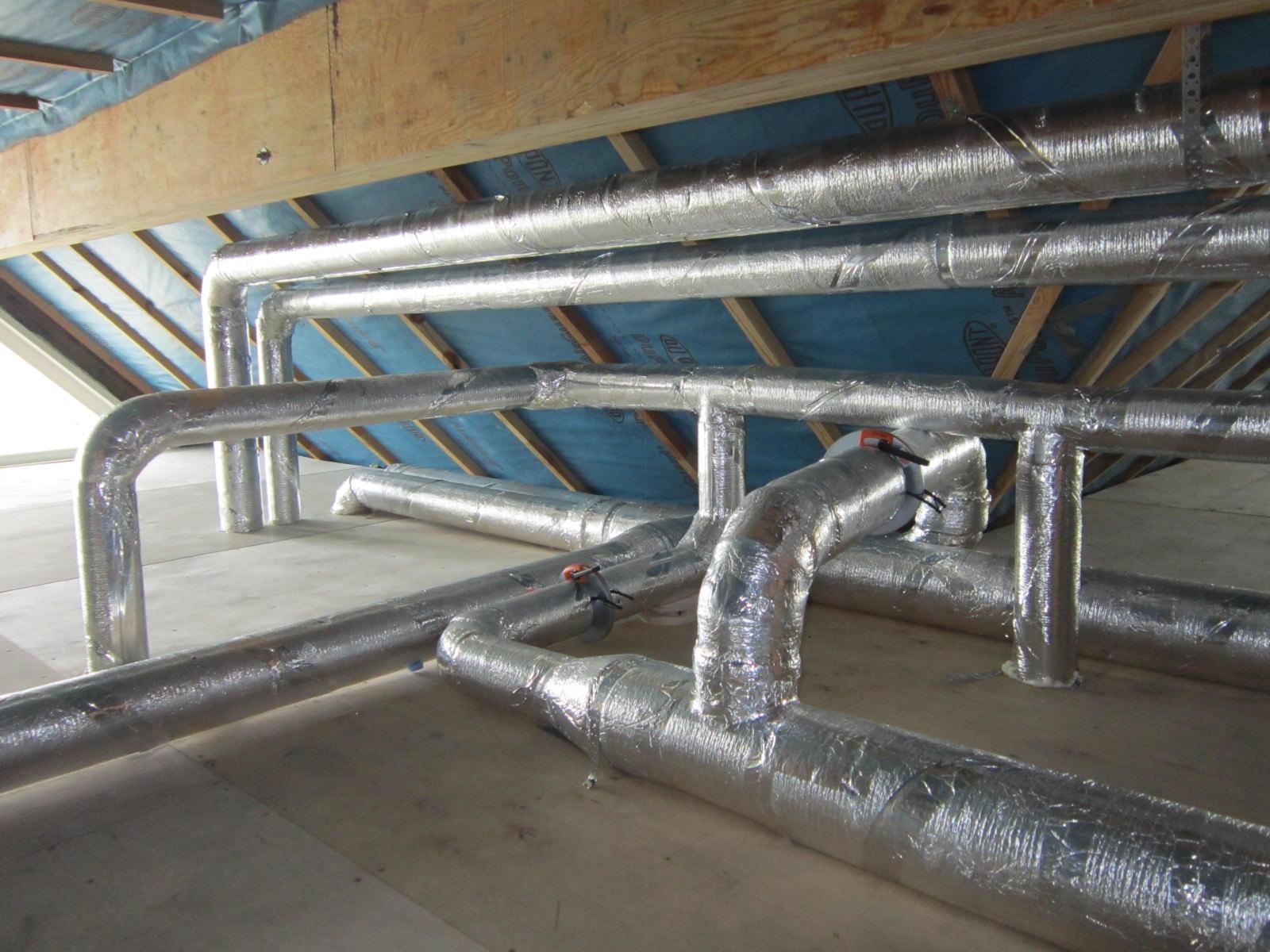 Приточные и вытяжные воздуховоды системы вентиляции