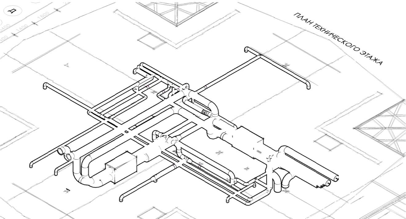 Система воздуховодов приточно-вытяжной вентиляции в каркасном доме