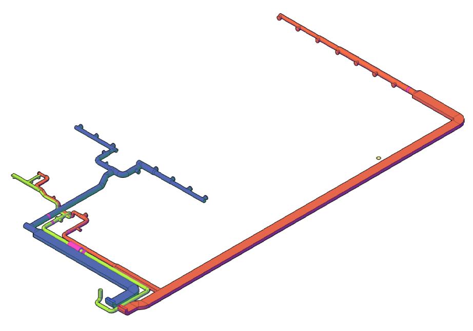 Спроектировали систему воздуховодов для приточно-вытяжной вентиляции