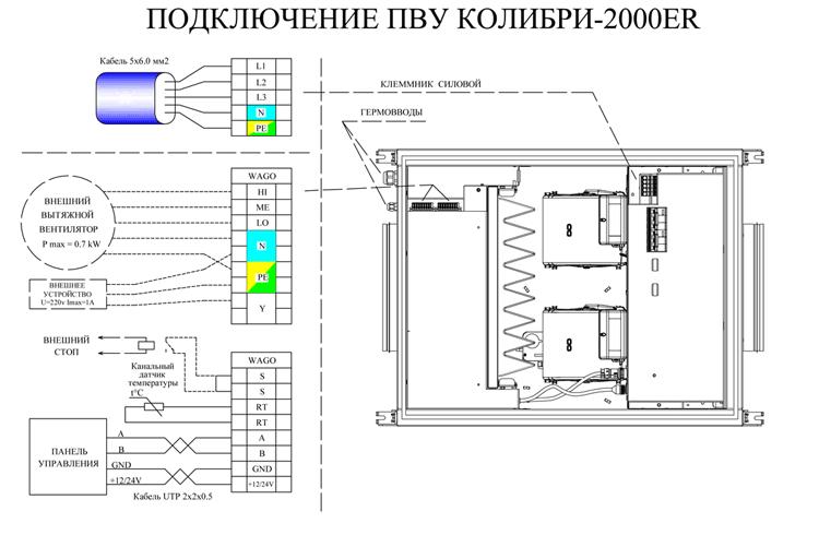 Схема подключения Колибри 2000