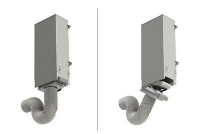 Для удалённого забора воздуха используйте адаптер воздуховода
