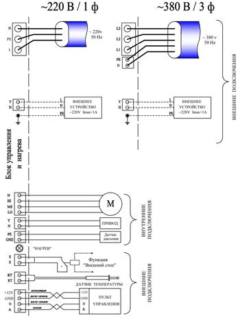 Схема подключения К-500 ZenTec