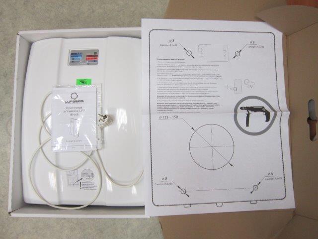 Вентиляционная установка, паспорт, шаблон для разметки отверстии на стене.