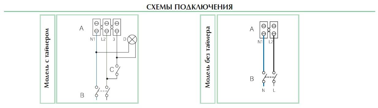 Схема подключения вентиляторов Punto Filo