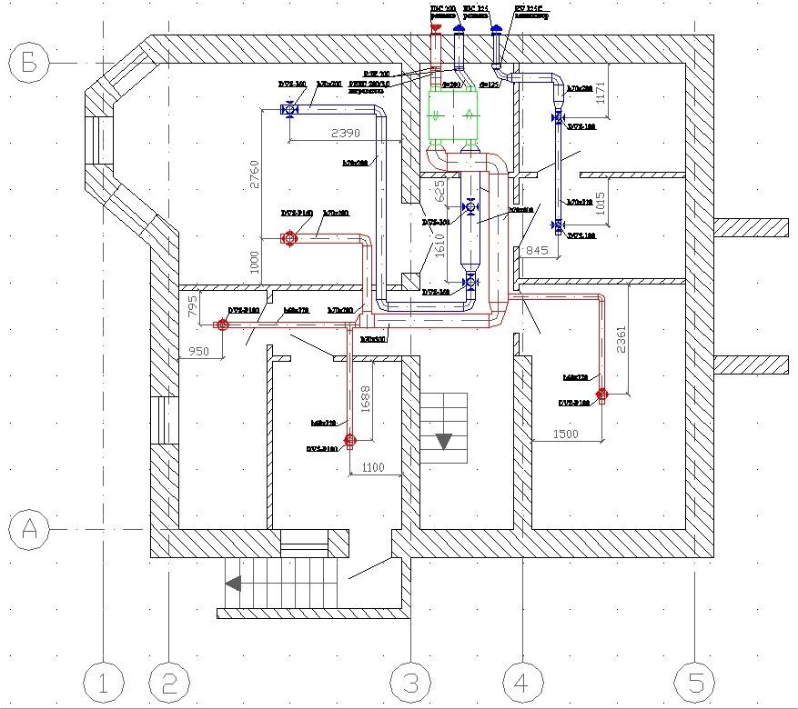 Схема вентиляции цокольного