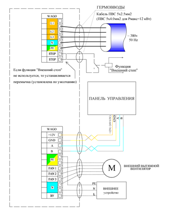 Схема подключения К-700 GTC