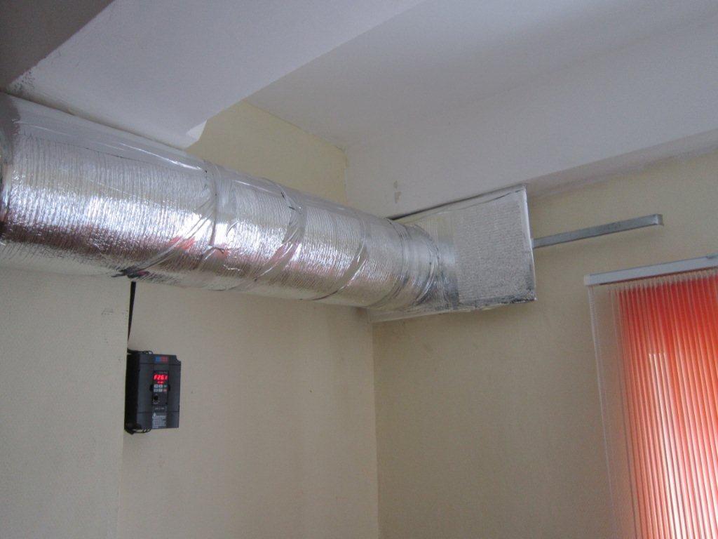 воздуховод вытяжки и пульт автоматики
