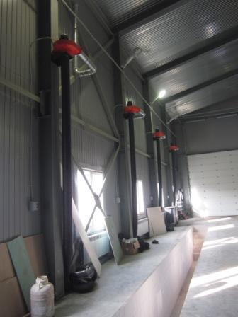 Вытяжка для удаления выхлопных газов