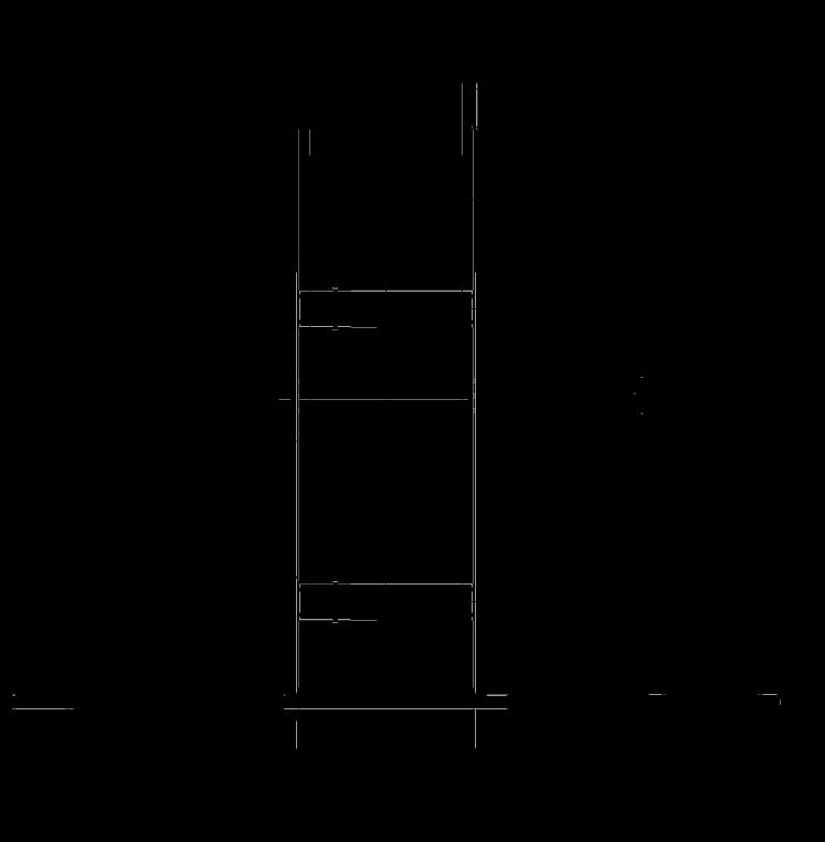 Габаритные размеры вертикальной рамы для ПВУ 350